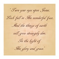 Turn Your Eyes Upon Jesus Fine-Art Print