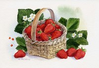 Basket Of Strawberries Fine-Art Print