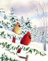 Cedar Farms Cardinals I Fine-Art Print
