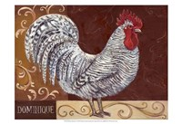 Rustic Roosters I Fine-Art Print
