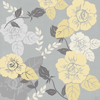 Yellow Roses on Grey II Fine-Art Print
