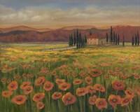 Poppy Path to Home I Fine-Art Print