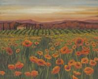 Poppy Path to Home II Fine-Art Print