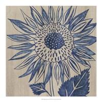 Indigo Sunflower Fine-Art Print