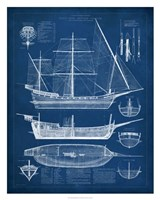 Antique Ship Blueprint I Fine-Art Print