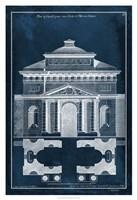 Palace Facade Blueprint II Fine-Art Print