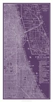 Graphic Map of Chicago Fine-Art Print