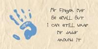 My Finger May Be Small Blue Handprint Fine-Art Print