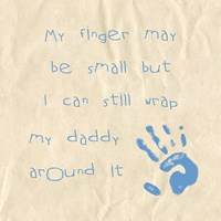 My Finger May Be Small Baby Boy Fine-Art Print