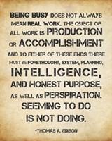 Seeming to Do is Not Doing - Thomas Edison Fine-Art Print