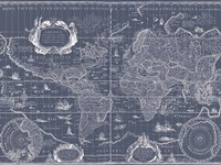 Blueprint World Map Fine-Art Print