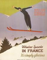 Winter Sports in France Fine-Art Print