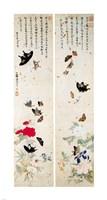 Butterflies - script Fine-Art Print