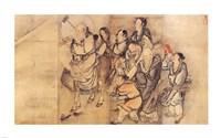 Painting of the Nineteen Iimmortals III Fine-Art Print