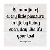 Be Mindful square Fine-Art Print