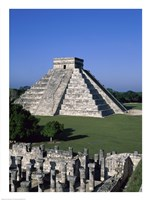 Ancient structures, El Castillo, Chichen Itza (Mayan), Mexico Fine-Art Print