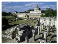 Old ruins of an observatory, Chichen Itza Fine-Art Print