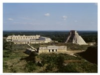 Pyramid of the Magician, Nunnery Quadrangle, Uxmal Fine-Art Print