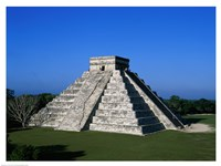 High angle view of a pyramid, El Castillo Fine-Art Print