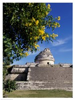 Low angle view of El Caracol Observatory Fine-Art Print