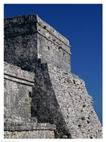 Wall of a building, El Castillo Fine-Art Print