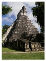 Facade of the Temple of the Great Jaguar, Tikal Fine-Art Print