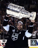 Anze Kopitar with the Stanley Cup Game 5 of the 2014 Stanley Cup Finals Fine-Art Print