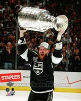 Jeff Carter with the Stanley Cup Game 5 of the 2014 Stanley Cup Finals Fine-Art Print