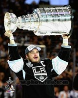 Dustin Brown with the Stanley Cup Game 5 of the 2014 Stanley Cup Finals Fine-Art Print