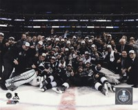 The Los Angeles Kings Celebration on ice Game 5 of the 2014 Stanley Cup Finals Action Fine-Art Print