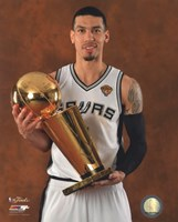 Danny Green with the NBA Championship Trophy Game 5 of the 2014 NBA Finals Fine-Art Print