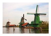 Dutch Zaanse Schans Windmills photograph Fine-Art Print