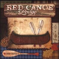Red Canoe Lodge Fine-Art Print