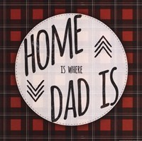 Home is Where Dad Is - red Fine-Art Print