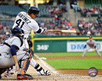 Victor Martinez 2014 on the field Fine-Art Print
