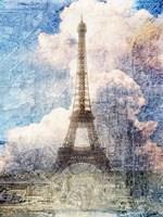 Distressed Eiffel Tower Fine-Art Print