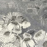 Flowers on Grey II Fine-Art Print