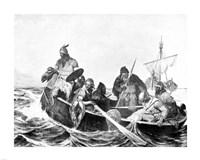 Norsemen Landing in Iceland Fine-Art Print