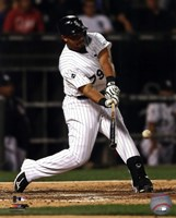 Jose Abreu 2014 Action Hitting Baseball Fine-Art Print