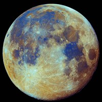 Colored moon, (geological differences) Fine-Art Print