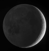 Moon with earthshine Fine-Art Print