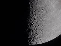 South terminator of 7 day moon Fine-Art Print