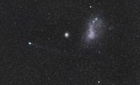 Comet Lemmon next to the Small Magellanic Cloud Fine-Art Print