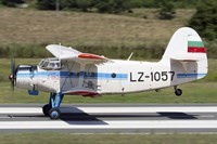 An Antonov An-2 taking off from Primorsko Airport, Bulgaria Fine-Art Print