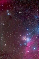 Area around the Belt of Orion, with the Horsehead and Flame Nebula Fine-Art Print