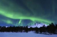 Aurora Borealis over Nova Mountain Wilderness, Norway Fine-Art Print