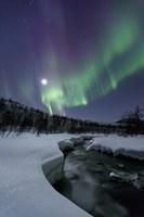 Aurora Borealis over the Blafjellelva River in Troms County, Norway Fine-Art Print