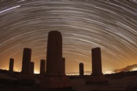 Star trails above the Private Palace of Cyrus the Great, Pasargad, Iran Fine-Art Print