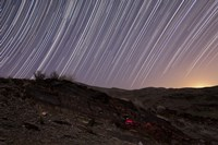 Star trails and rock art in the central province of Iran Fine-Art Print