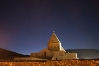 Starry night sky above Saint Thaddeus Monastery, Iran Fine-Art Print